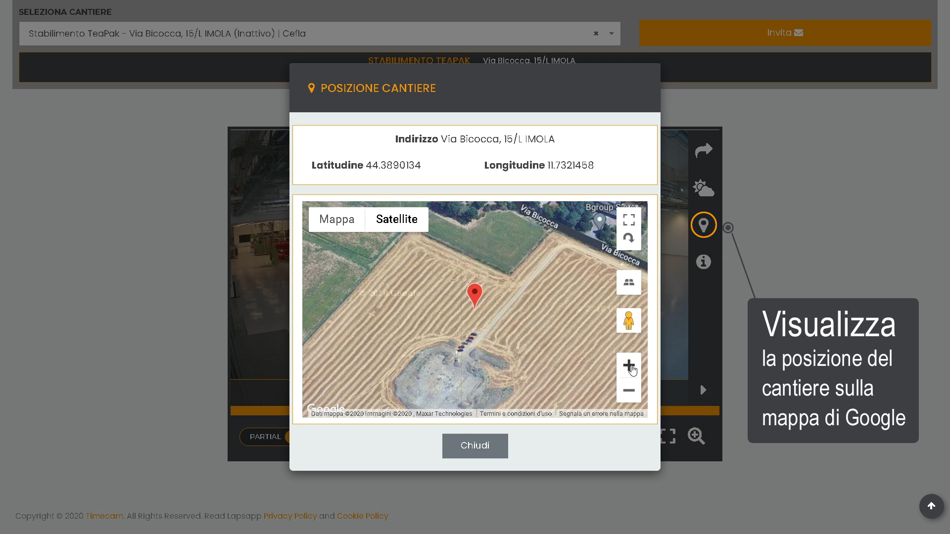 timelapse cantiere - LapsApp